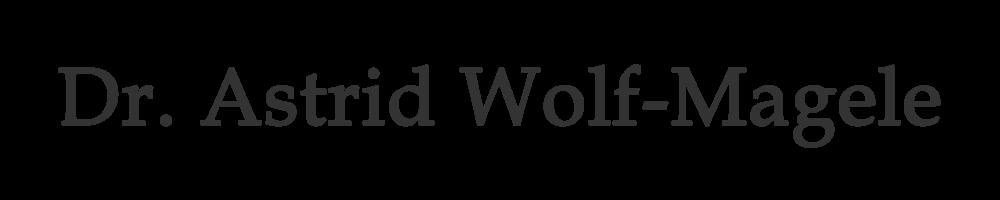 Dr. Astrid Wolf-Magele